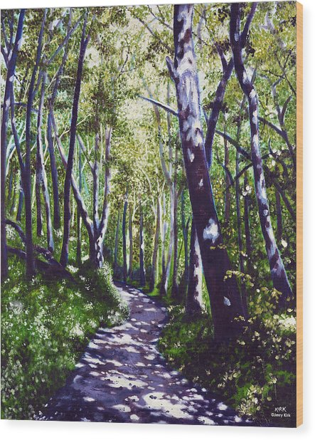 Summer Woods Wood Print by Jerry Kirk