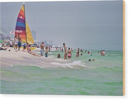 Summers Day On Pensacola Beach Wood Print