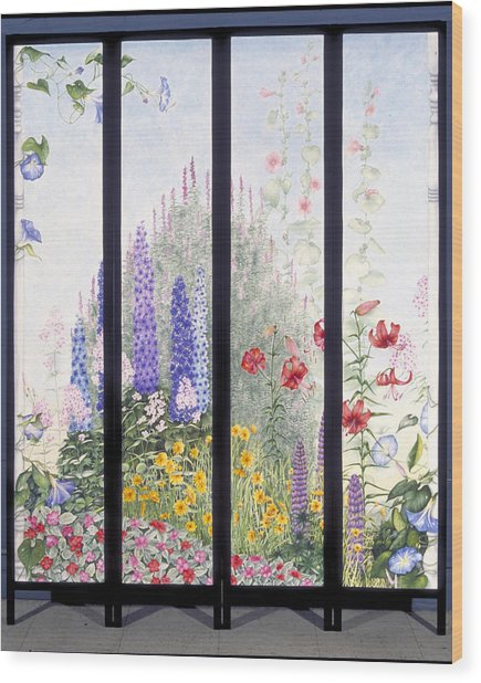 Summerscreen Wood Print by Nancy  Ethiel