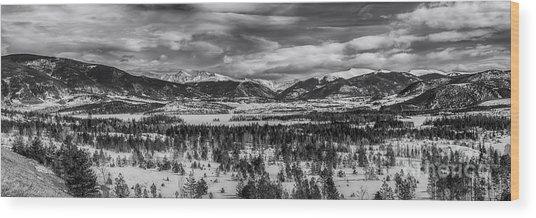 Summit County  Wood Print
