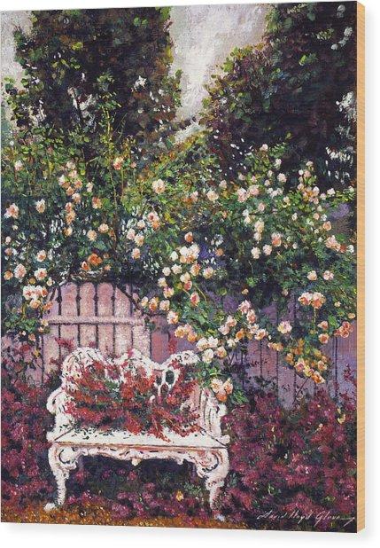 Sumptous Cascading Roses Wood Print