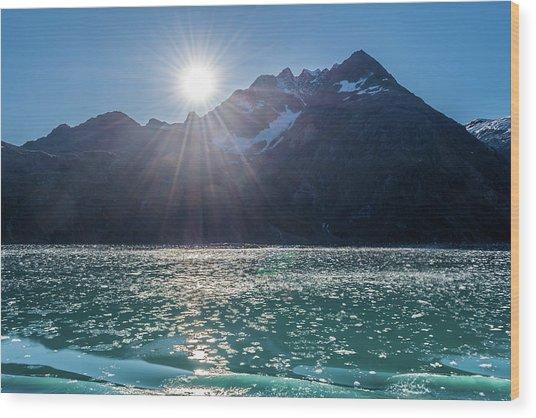 Sunshine And Ice Wood Print