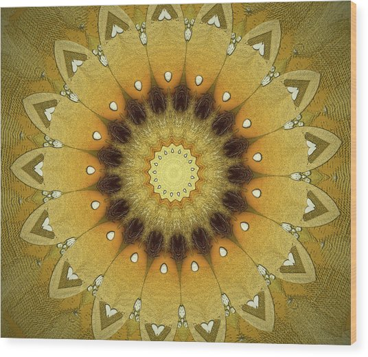 Sun Kaleidoscope Wood Print