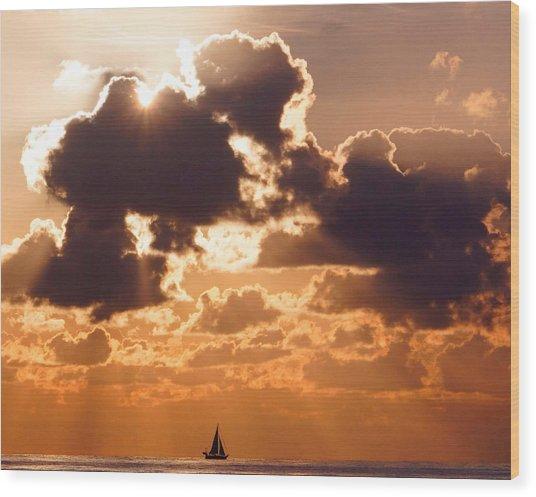 Sun Peek Sailboat Wood Print