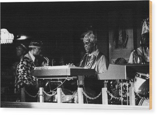 Sun Ra Arkestra At The Red Garter 1970 Nyc 31 Wood Print
