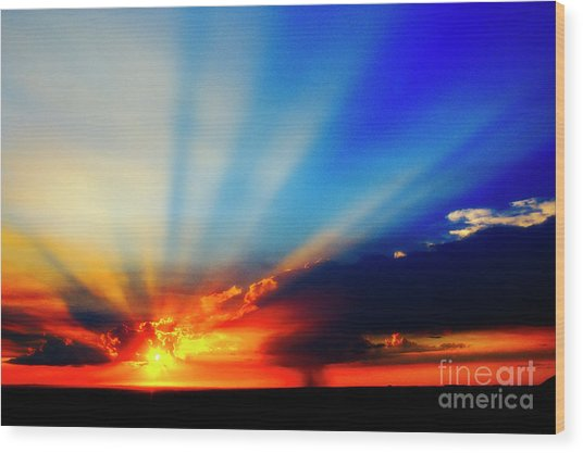 Wood Print featuring the photograph Sun Rays by Scott Kemper