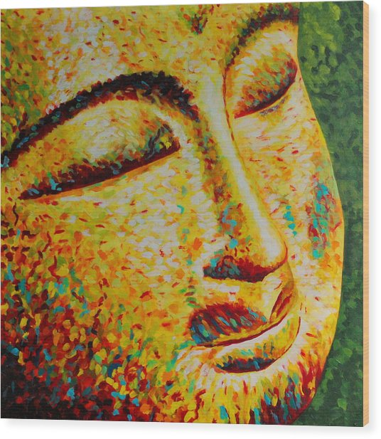 Sun Salutation Wood Print by Melanie Cossey