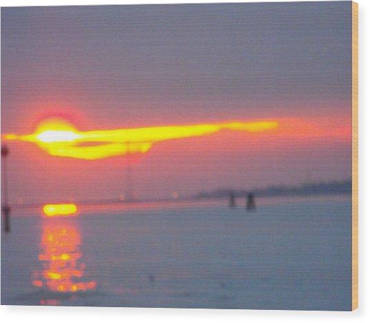 Sun Sets Over Venice IIi Wood Print by Viviana Puello Villa