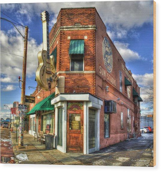Sun Studio Rock N Roll Birthing Place Memphis Tennessee Art Wood Print