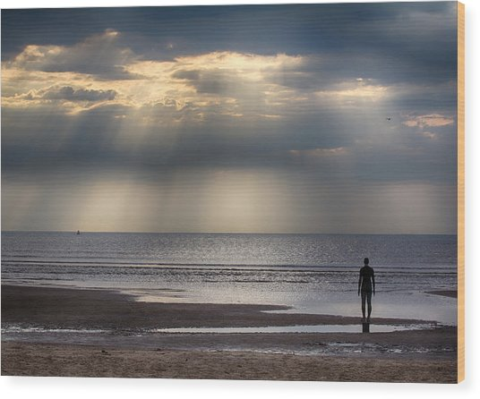 Sun Through The Clouds 2 5x7 Wood Print
