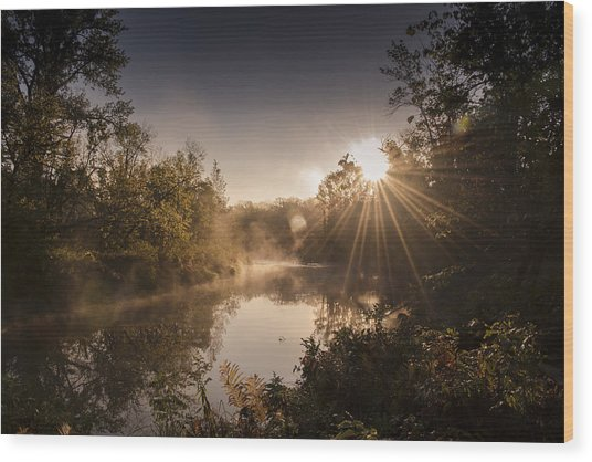 Sunbeams  Wood Print