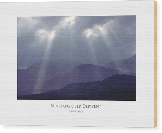 Sunbeams Over Derwent Wood Print