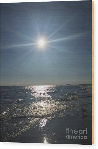 Sunburst Reflection Wood Print