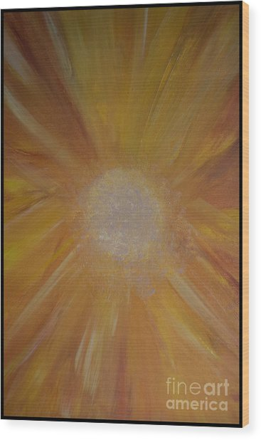 Sunburst Wood Print