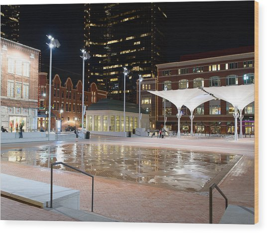 Sundance Square Fort Worth 3 Wood Print