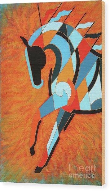 Sundancer Of The Fire II Wood Print