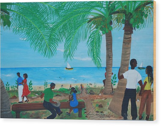 Sunday By The Beach Wood Print