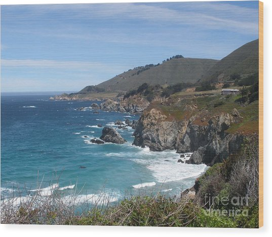 Sunday Drive - California Coast Wood Print