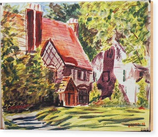 Sunday Morning On Forsyth Wood Print by Horacio Prada