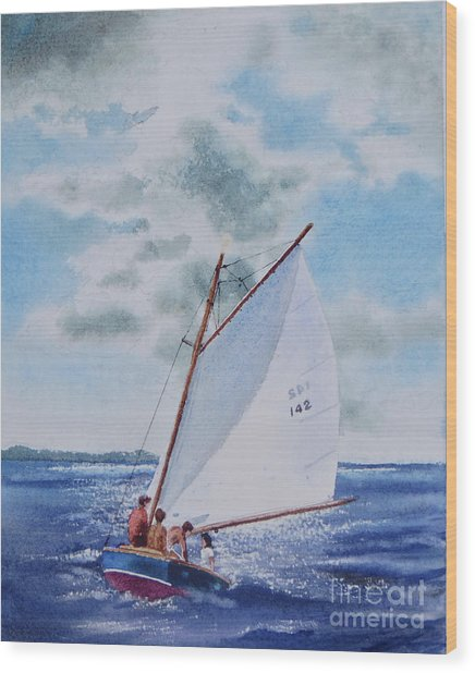 Sunday Sail Wood Print