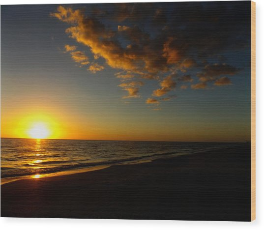 Sunday Sunset Redington Beach Wood Print