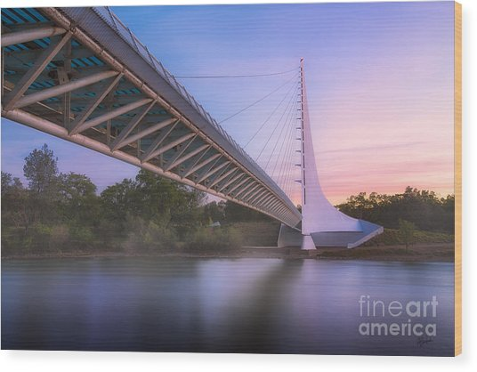 Sundial Bridge 6 Wood Print