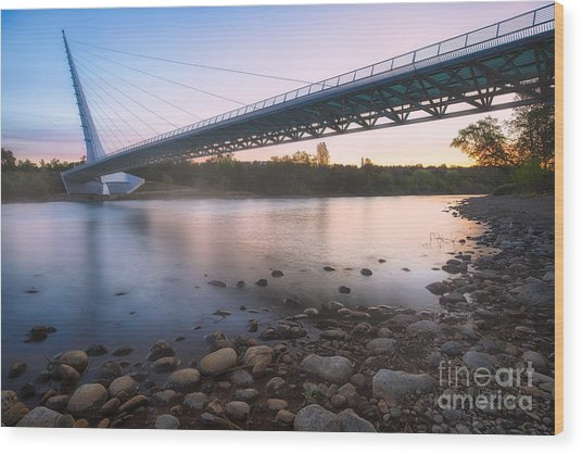 Sundial Bridge 7 Wood Print