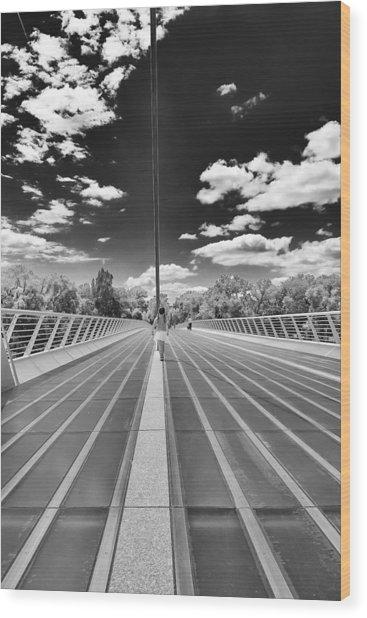 Sundial Bridge At Turtle Bay Wood Print