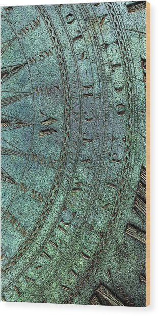 Wood Print featuring the digital art Sundial by Julian Perry