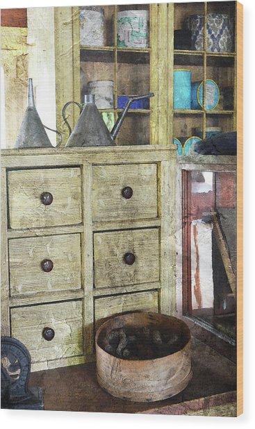 Sundries Wood Print