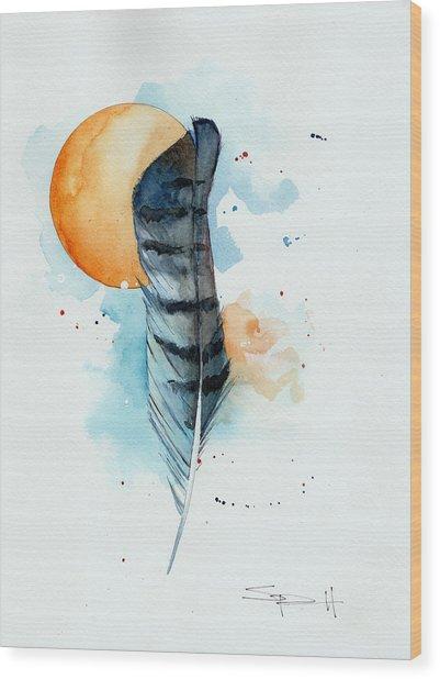 Sunfeather Wood Print