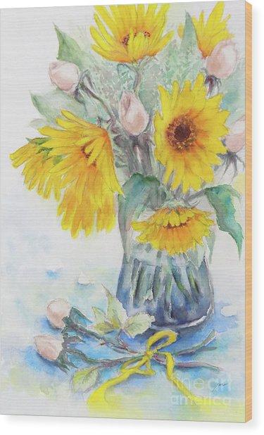 Sunflower-4 Wood Print