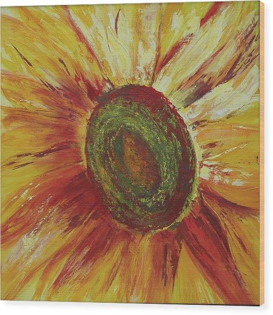 Sunflower Wood Print by Aneta  Berghane