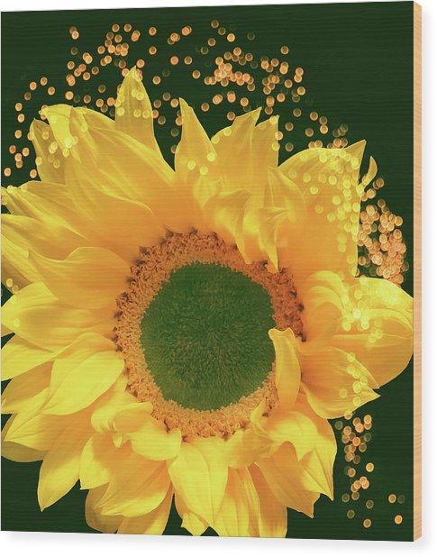 Sunflower Art Wood Print