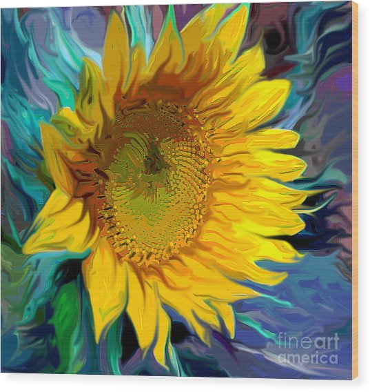Sunflower For Van Gogh Wood Print