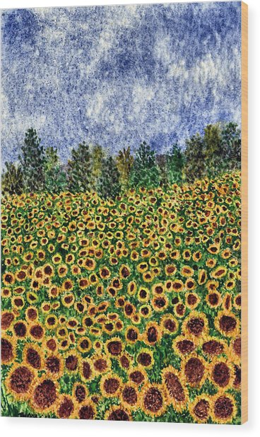 Sunflower Galaxy Wood Print