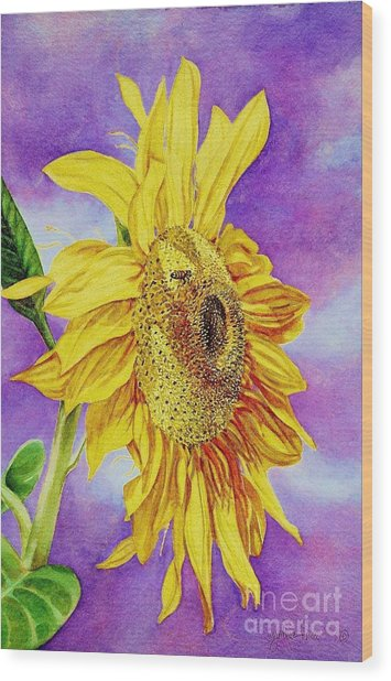 Sunflower Gold Wood Print