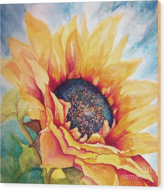 Sunflower Joy Wood Print