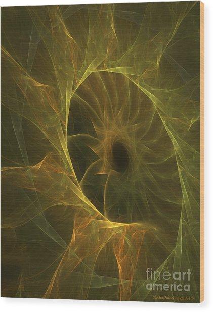 Sunflower Nebula Wood Print by Sandra Bauser Digital Art