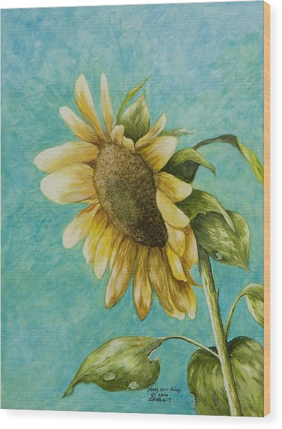 Sunflower Number One Wood Print
