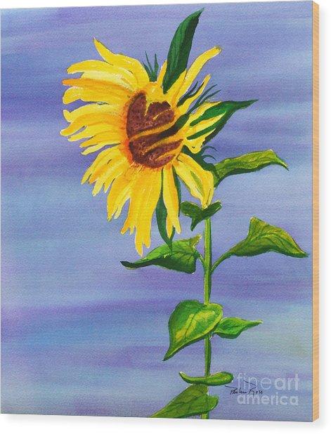 Sunflower Wood Print by Pauline Ross