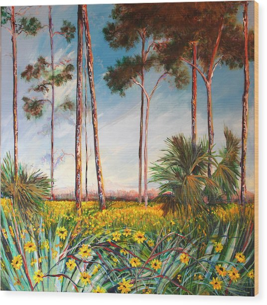 Sunflower Revival Wood Print by Michele Hollister - for Nancy Asbell