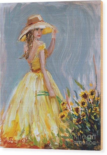 Sunflower Seduction Wood Print