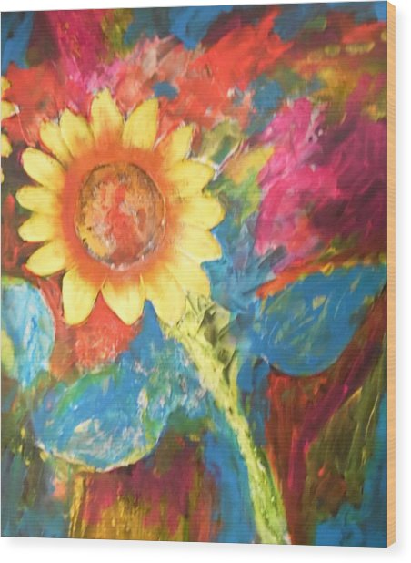Sunflower Song Wood Print