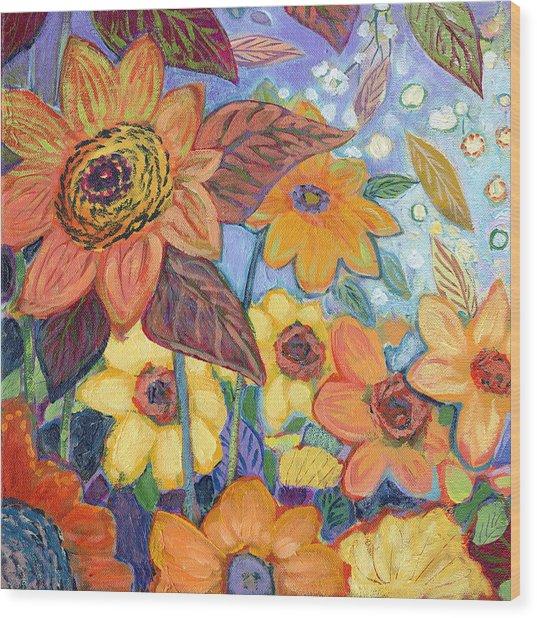 Sunflower Tropics Part 1 Wood Print