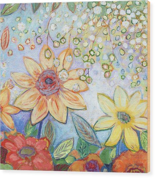 Sunflower Tropics Part 2 Wood Print