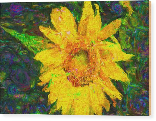 Sunflower Van Gogh Wood Print