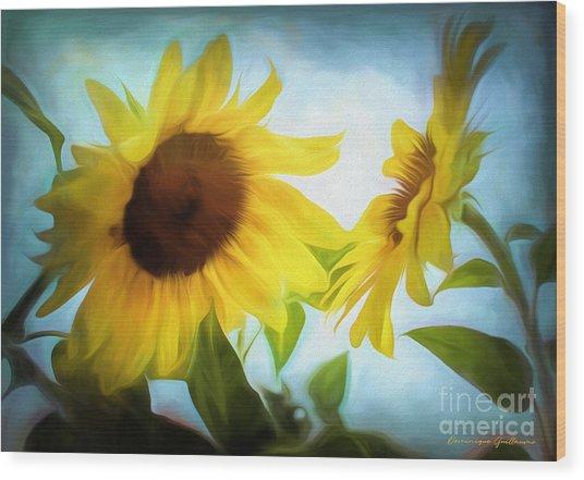 Sunflowers Duet Wood Print