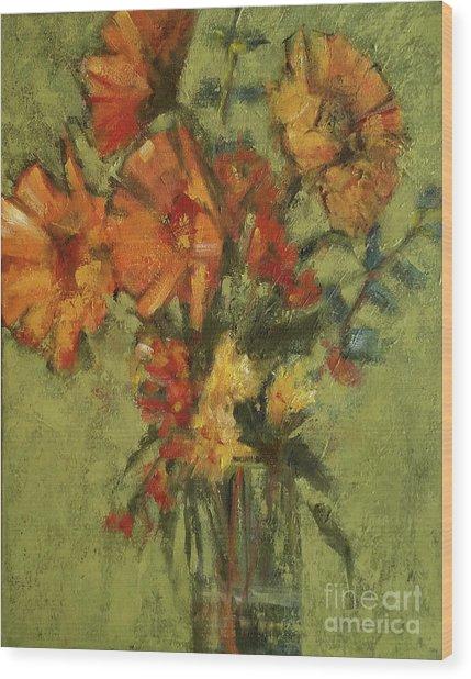 Sunflowers For Sunday Wood Print