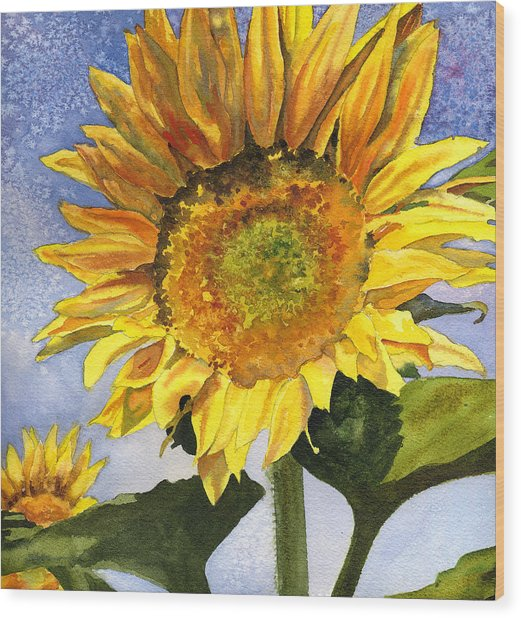 Sunflowers II Wood Print